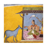 Gaudi Ragini  Wife of Sri Raga  C1690-5 (Gouache with Gold and Silver Paint on Paper)