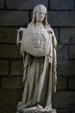St Veronica  Stone Statue  Collegiate Church Ecouis  Normandy  France  14th Century