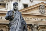 St Peters Statue Sculpted from 1838-1840 by Venetian Sculptor Giuseppe De Fabris (1790-1860) St
