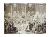 Masked Ball at Versailles During Reign of Louis XV (1710-1774)  France  18th Century