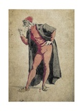 Pantalone  Commedia Dell'Arte Character by Maurice Sand (1823-1889)
