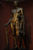 Hercules with Mallet  Skin of the Nemean Lion and Golden Apples Colossal Gilded Bronze Statue