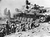 German Panzer IV Travelling over a Bridge Built across a British Trench  Tobruk  Libya  1942