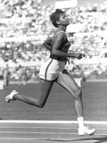 The American Sprinter Wilma Rudolph Running at the Rome Olympic Games  1960
