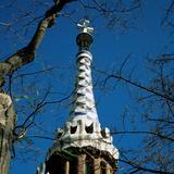Spain Barcelona Guell Park Pinnacle of House of Doorman by Antoni Gaudi (1852-1926)