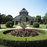 Formal Garden in Front of a Greenhouse  Schonbrunn Palace  Vienna  Austria
