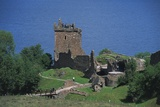 Ruins of Urquhart Castle on Banks of Loch Ness  Drumnadrochit  Scotland  United Kingdom