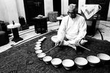Psi President Ranjit Madhavji Playing Jal Tarang Mumbai Maharashtra India Asia 1984