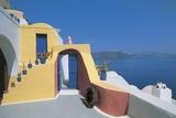 Building Near the Sea  Oia  Santorini  Cyclades Islands  Southern Aegean  Greece