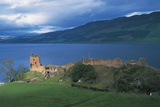 Ruins of Urquhart Castle on the Banks of Loch Ness  Drumnadrochit  Scotland  Uk