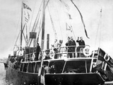 Salomon Andree and His Two Companions  Strindberg and Fraenkel  Waving Farewell  Spitsbergen  1897