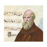 Portrait of Guido D'Arezzo  Guido Monaco or Guido Pomposa (About 992-1050)  Benedictine Monk  Itali