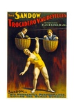 Poster Advertising The Sandow Trocadero Vaudevilles C1894