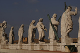 Jesus and the Apostles on the Roof of St Peter's Basilica Vatican City