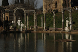 Hadrian's Villa the Canopus with the Statue of God Mars 2nd Century Italy