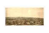 Birds Eye View of Springfield  Mass  Circa 1850  USA  America