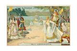 Scene from Richard Wagner's Opera Lohengrin
