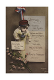 French New Year's Card  1916