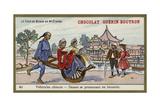 Chinese Vehicles - Women Travelling by Wheelbarrow