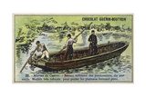 Boat of French Military Bridge Builders  19th Century