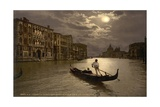 Grand Canal by Moonlight  Venice  Italy  C1890-C1900