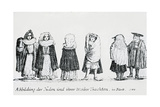 A Depiction of Jewish People and their Dress  1706