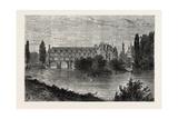 Chenonceaux  Chateau De Chenonceau  France  1871  River Front