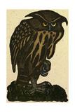 Illustration of English Tales Folk Tales and Ballads a Grumpy Owl
