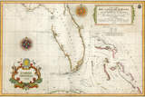 Spanish Map of Florida and the Bahamas  1805