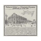 Advertisement  Palace-Hotel Des Champs-Elysees