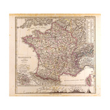 Map of France  1874