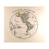 Map of the Western Hemisphere  1872