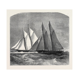 The Anglo-American Yacht Race Between the Sappho and the Cambria  1870