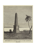Monument to Captain Cook at the Sandwich Islands