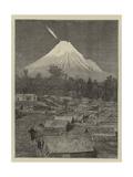 The Comet Seen over Mount Egmont  New Zealand