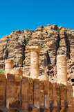 Roman Columns of the Great Temple Complex in Petra (Rose City)  Jordan the City of Petra Was Lost