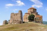Beautiful Nature and Jvari Monastery  Georgian Orthodox Monastery of the 6Th Century on the Mountai
