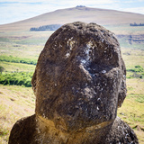 Moai in the Rapa Nui National Park  Easter Island  Chile  South America