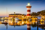 Hilton Head  South Carolina  USA Lighthouse at Twilight