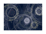 Blueprint of a Fantasy Steampunk Machine