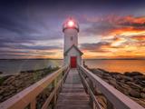 Lighthouse in Gloucester  Ma USA