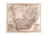 Map of South Africa  1872