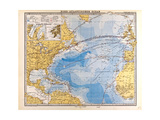 Map of the North Atlantic  1872