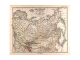 Map of Russia  1874
