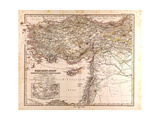 Map of Asia Minor and Syria  1873