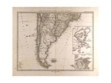 Map of South America  1872