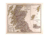 Map of Scotland  1872