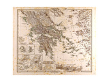 Map of Greece  1873