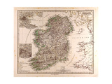 Map of Ireland  1872