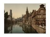 Canal and Belfry  Bruges  Belgium  C1890-C1900